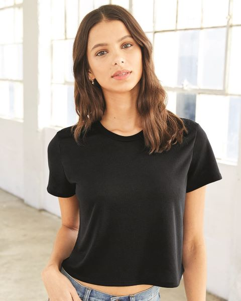 wholesale BELLA + CANVAS Women's Flowy Cropped Tee 8882 from BulkApparel, DIY T-Shirt Trends 2020